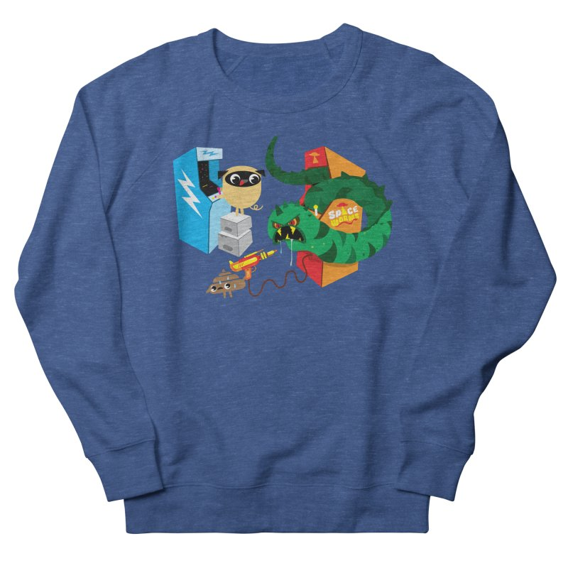 Pug & Poo Space Worms Women's Sweatshirt by Rick Hill Studio's Artist Shop