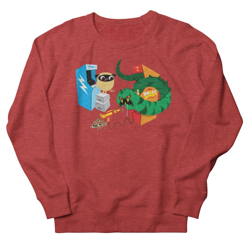 Pug & Poo Space Worms Women's Sweatshirt by Rick Hill Studio's Artist Shop