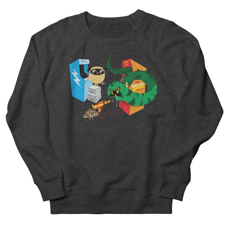 Pug & Poo Space Worms Men's Sweatshirt by Rick Hill Studio's Artist Shop