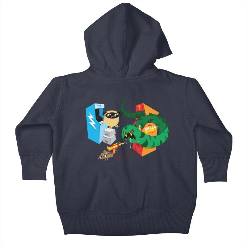 Pug & Poo Space Worms Kids Baby Zip-Up Hoody by Rick Hill Studio's Artist Shop