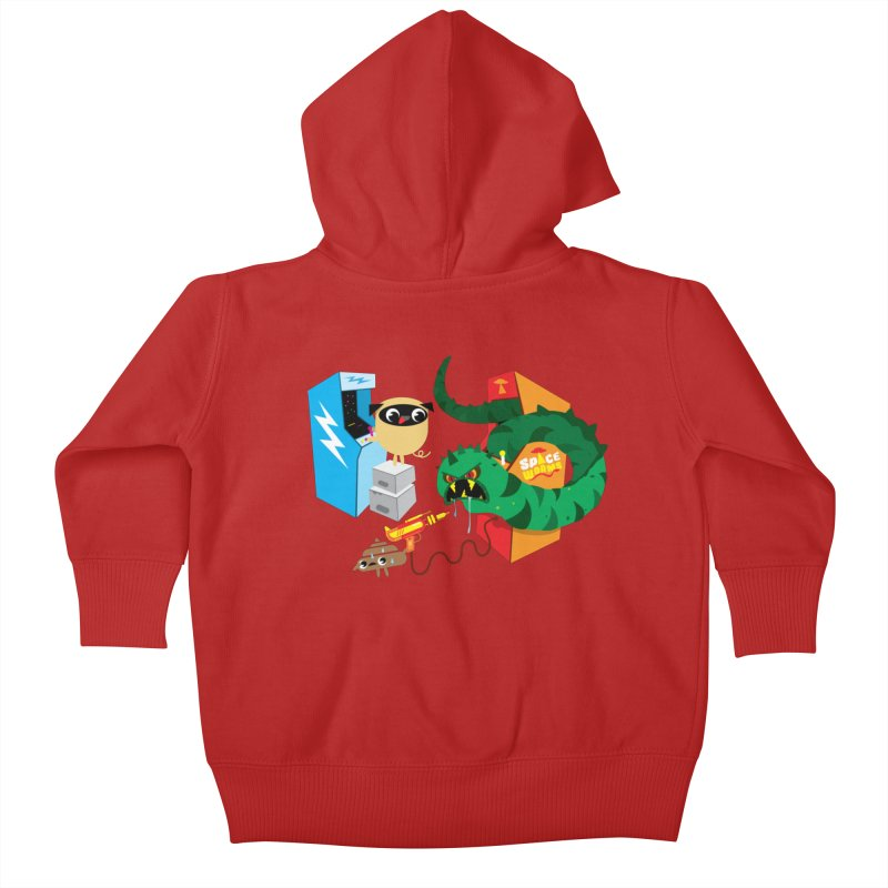 Pug & Poo Space Worms Kids Baby Zip-Up Hoody by Rick Hill Studio's Artist Shop