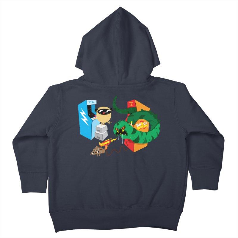 Pug & Poo Space Worms Kids Toddler Zip-Up Hoody by Rick Hill Studio's Artist Shop