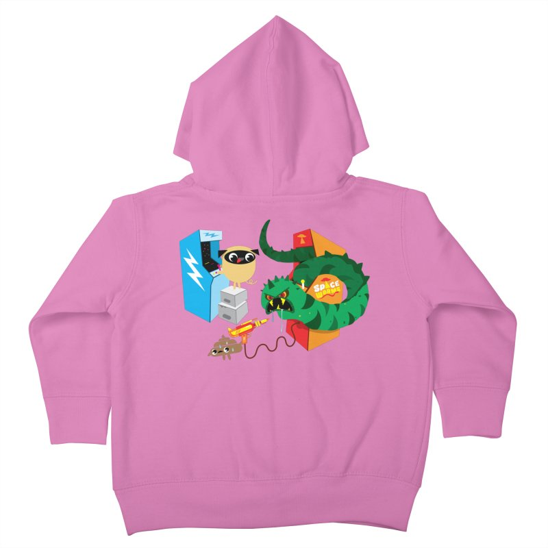 Pug & Poo Space Worms Kids Toddler Zip-Up Hoody by Rick Hill Studio's Artist Shop