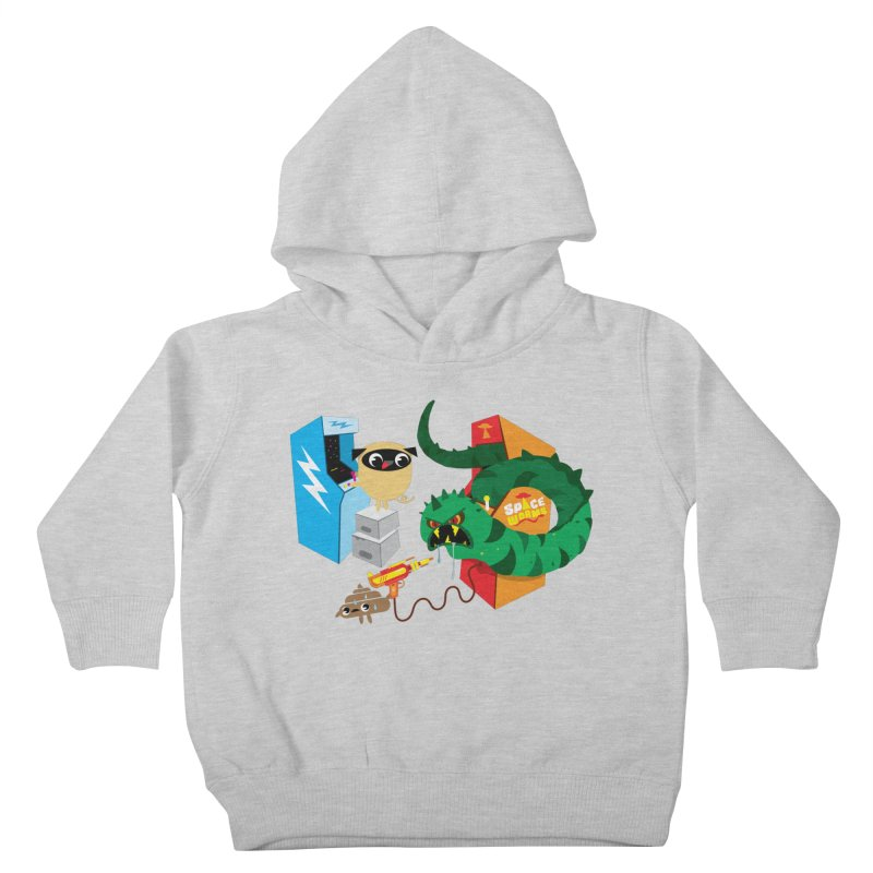 Pug & Poo Space Worms Kids Toddler Pullover Hoody by Rick Hill Studio's Artist Shop