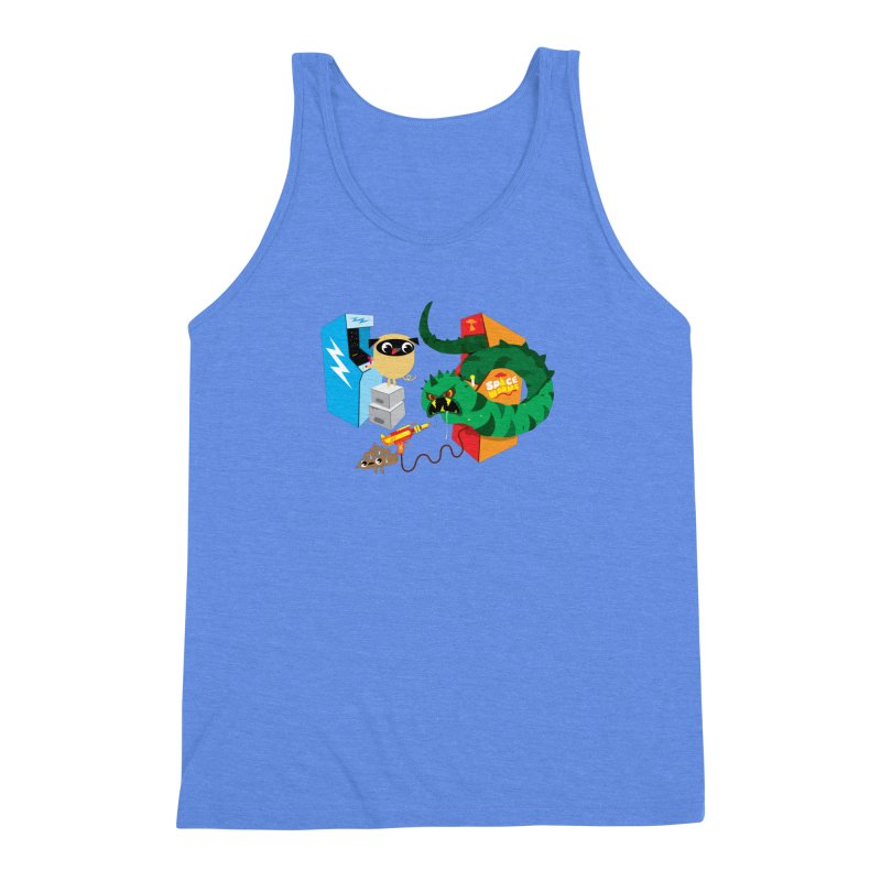 Pug & Poo Space Worms Men's Triblend Tank by Rick Hill Studio's Artist Shop