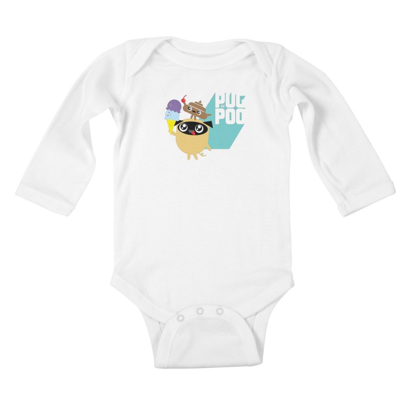 Cherry On Top Kids Baby Longsleeve Bodysuit by Rick Hill Studio's Artist Shop