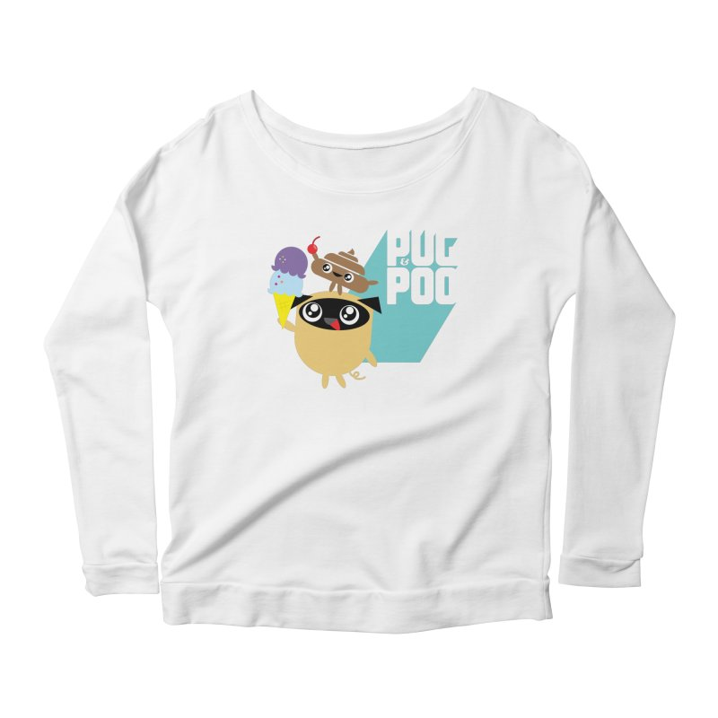 Cherry On Top Women's Longsleeve Scoopneck  by Rick Hill Studio's Artist Shop