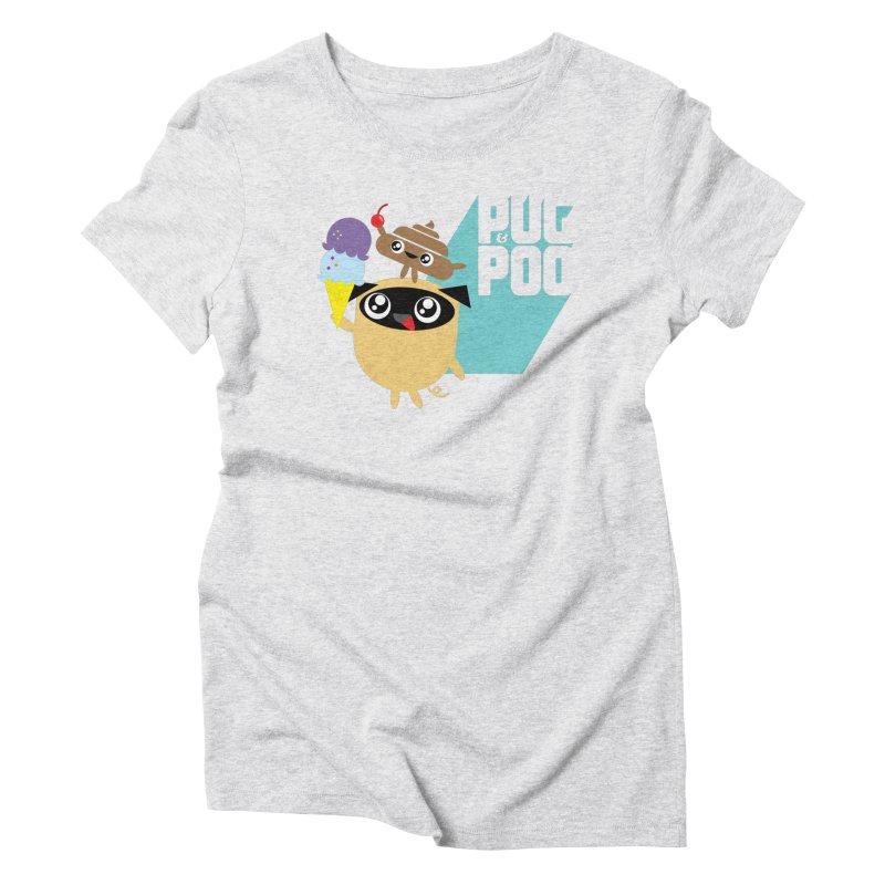 Cherry On Top Women's Triblend T-Shirt by Rick Hill Studio's Artist Shop