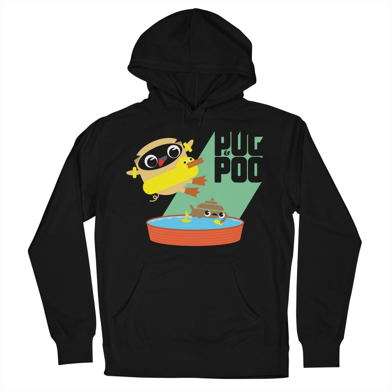Pug Cannon Ball! Women's Pullover Hoody by Rick Hill Studio's Artist Shop