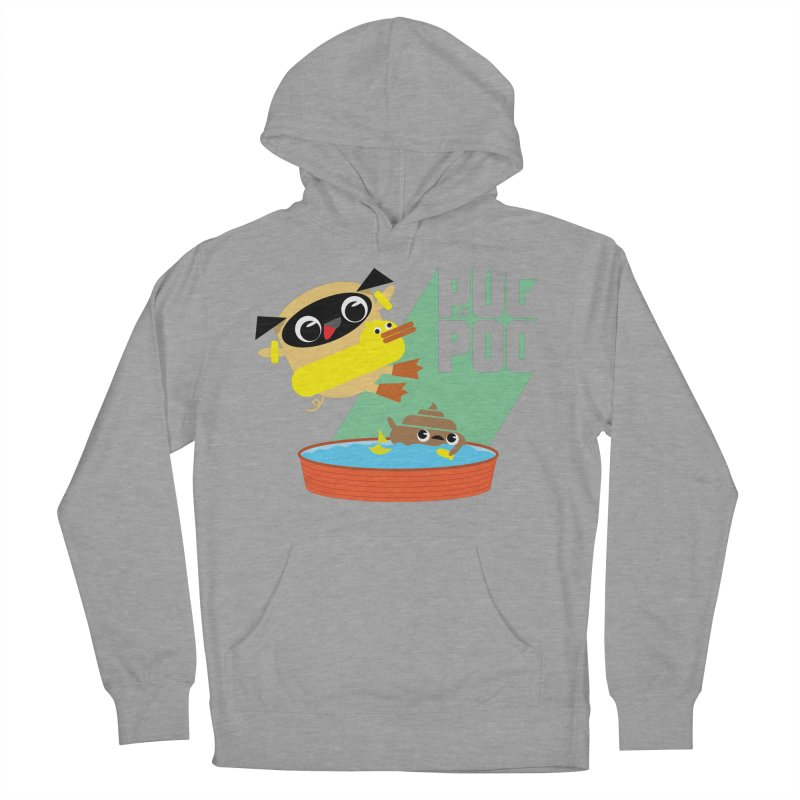 Pug Cannon Ball! Men's Pullover Hoody by Rick Hill Studio's Artist Shop