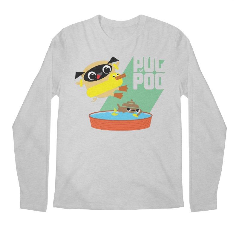 Pug Cannon Ball! Men's Regular Longsleeve T-Shirt by Rick Hill Studio's Artist Shop