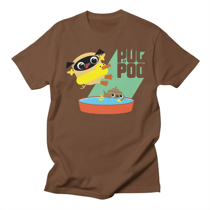 Pug Cannon Ball! Men's T-Shirt by Rick Hill Studio's Artist Shop