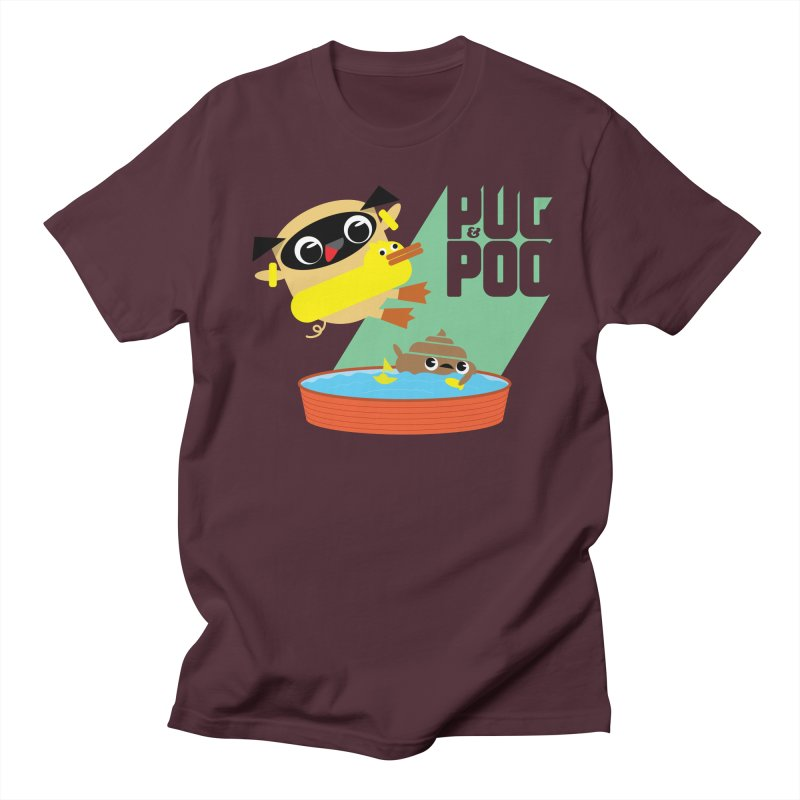 Pug Cannon Ball! Men's T-Shirt by Rick Hill Studio's Artist Shop