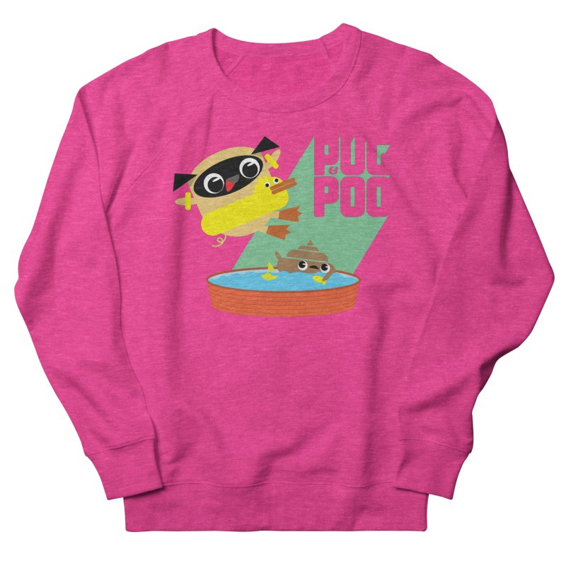 Pug Cannon Ball! Women's Sweatshirt by Rick Hill Studio's Artist Shop