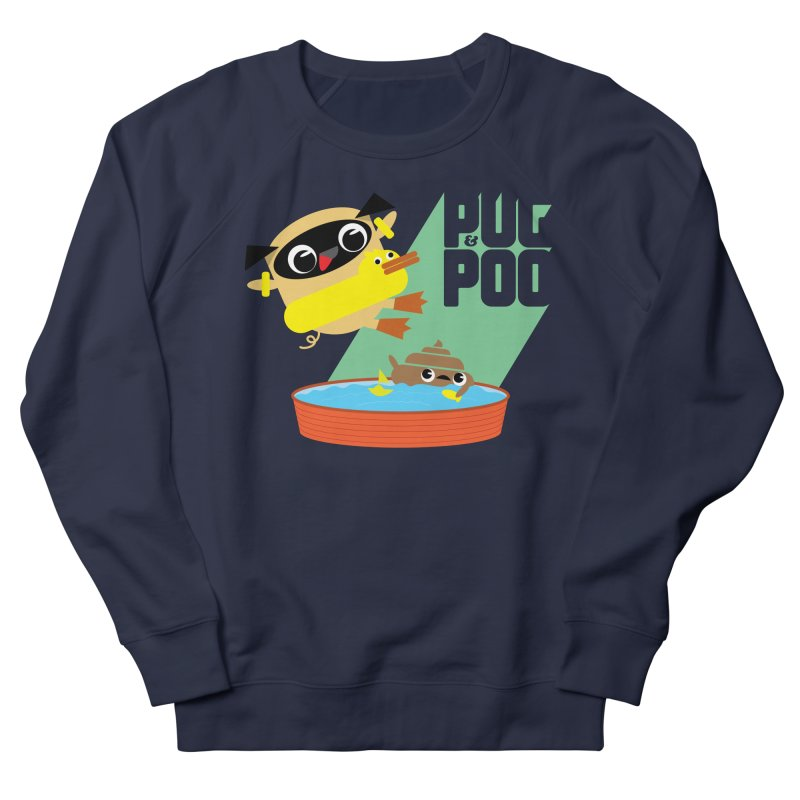 Pug Cannon Ball! Women's Sweatshirt by Rick Hill Studio's Artist Shop