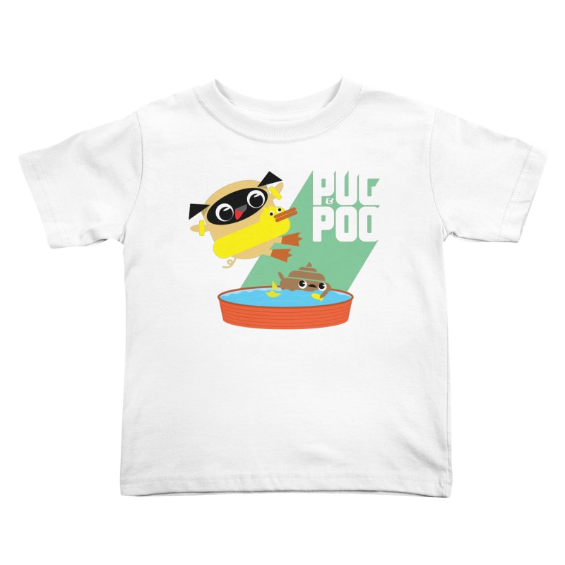 Pug Cannon Ball! Kids Toddler T-Shirt by Rick Hill Studio's Artist Shop