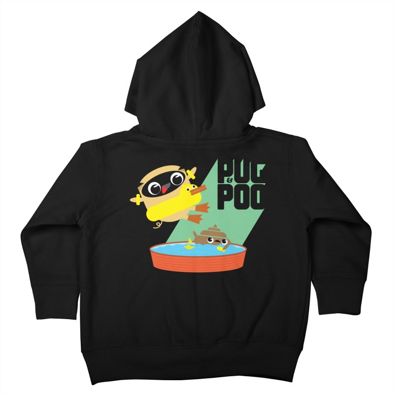Pug Cannon Ball! Kids Toddler Zip-Up Hoody by Rick Hill Studio's Artist Shop