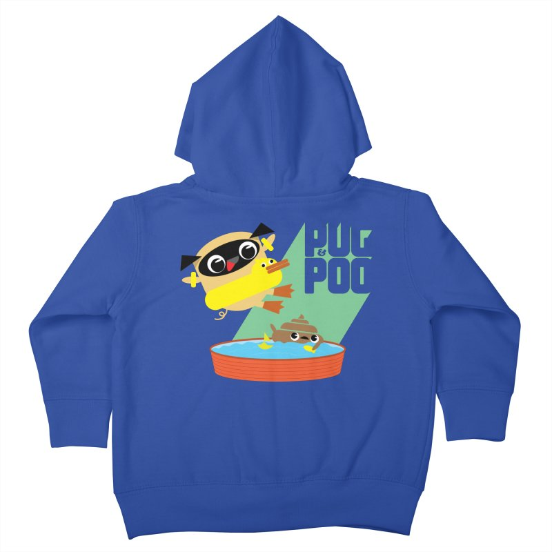 Pug Cannon Ball! Kids Toddler Zip-Up Hoody by Rick Hill Studio's Artist Shop