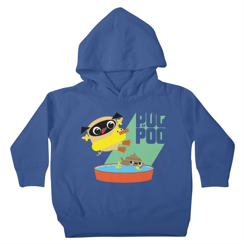 Pug Cannon Ball! Kids Toddler Pullover Hoody by Rick Hill Studio's Artist Shop