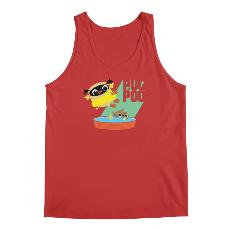 Pug Cannon Ball! Men's Tank by Rick Hill Studio's Artist Shop