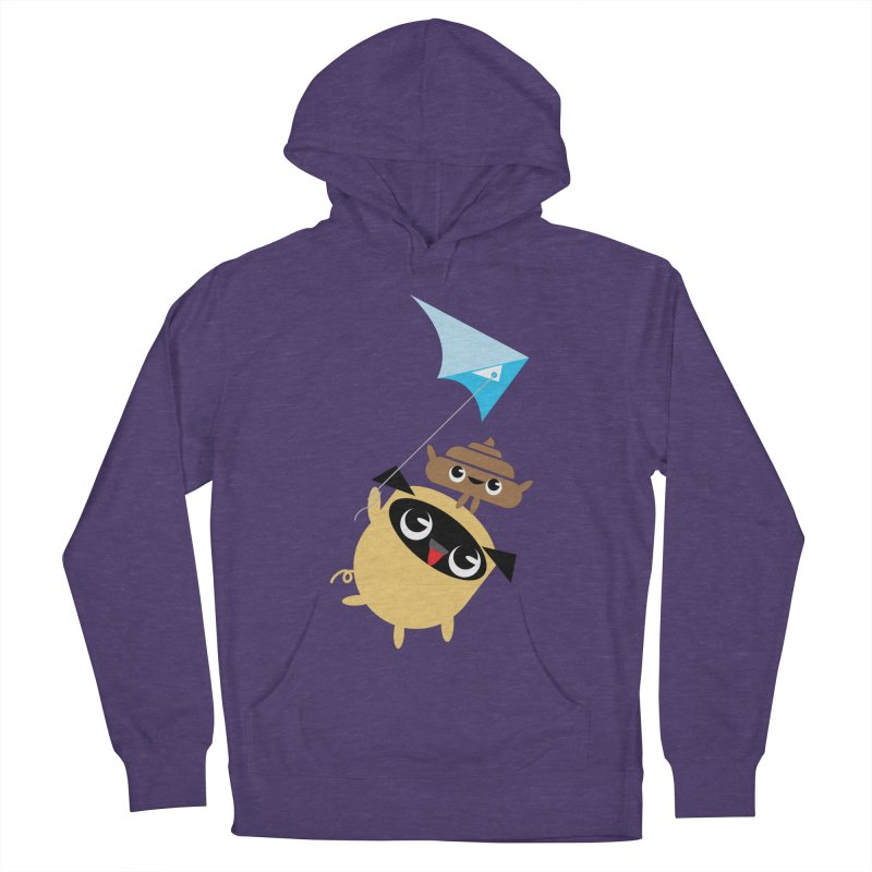 Pug & Poo Flying A Kite Women's Pullover Hoody by Rick Hill Studio's Artist Shop