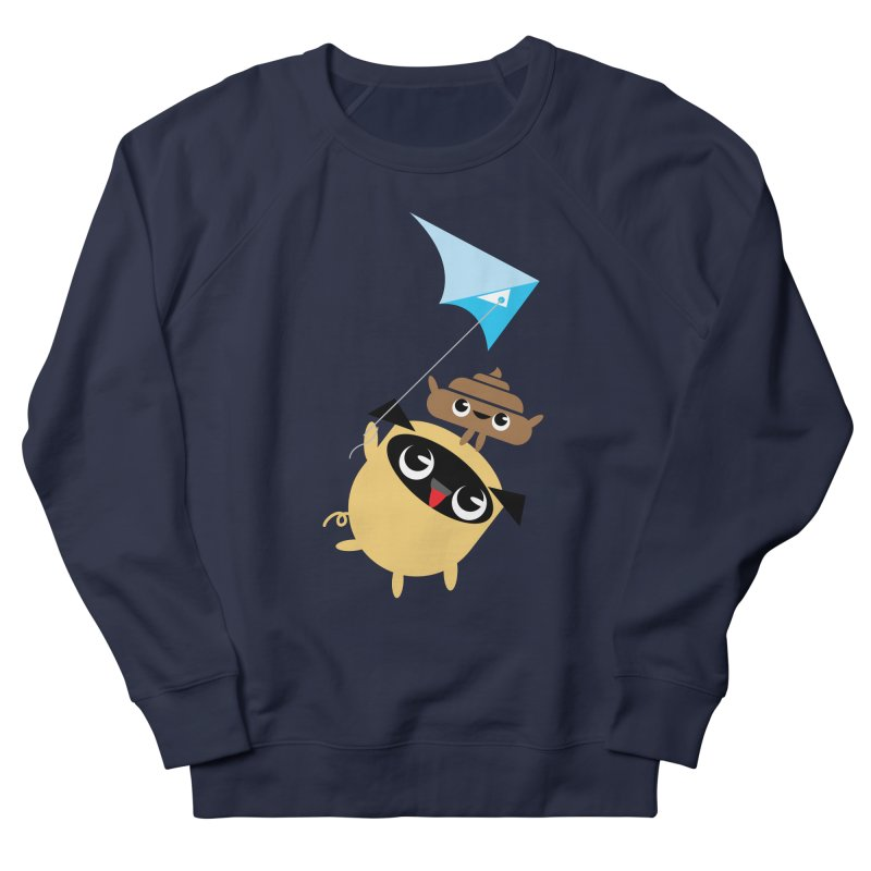 Pug & Poo Flying A Kite Women's Sweatshirt by Rick Hill Studio's Artist Shop