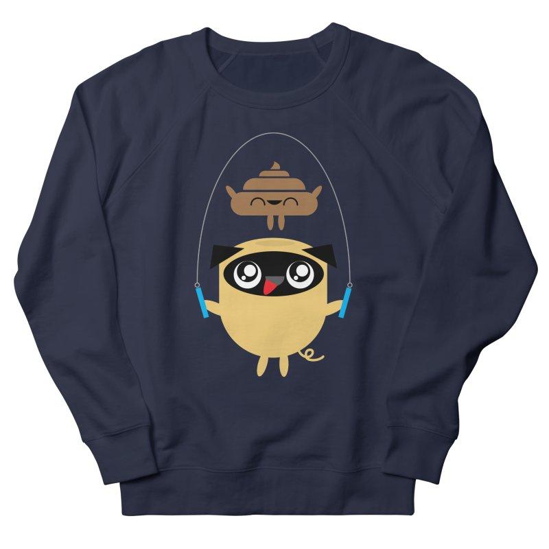 Pug & Poo Jumping Rope Women's Sweatshirt by Rick Hill Studio's Artist Shop