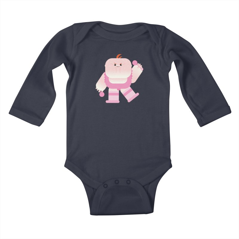 Big Baby LeRoy Kids Baby Longsleeve Bodysuit by Rick Hill Studio's Artist Shop