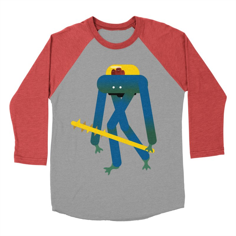 The Red Ghost Brothers Men's Baseball Triblend Longsleeve T-Shirt by Rick Hill Studio's Artist Shop