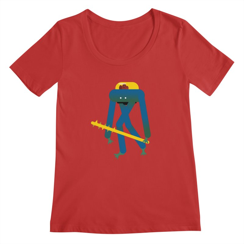 The Red Ghost Brothers Women's Regular Scoop Neck by Rick Hill Studio's Artist Shop
