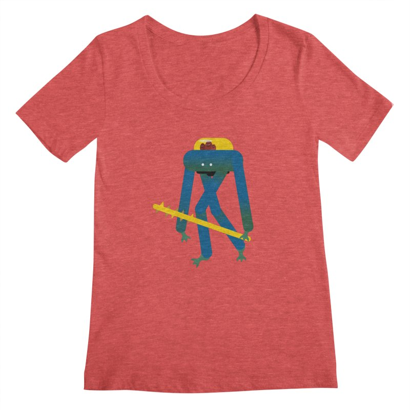 The Red Ghost Brothers Women's Scoopneck by Rick Hill Studio's Artist Shop