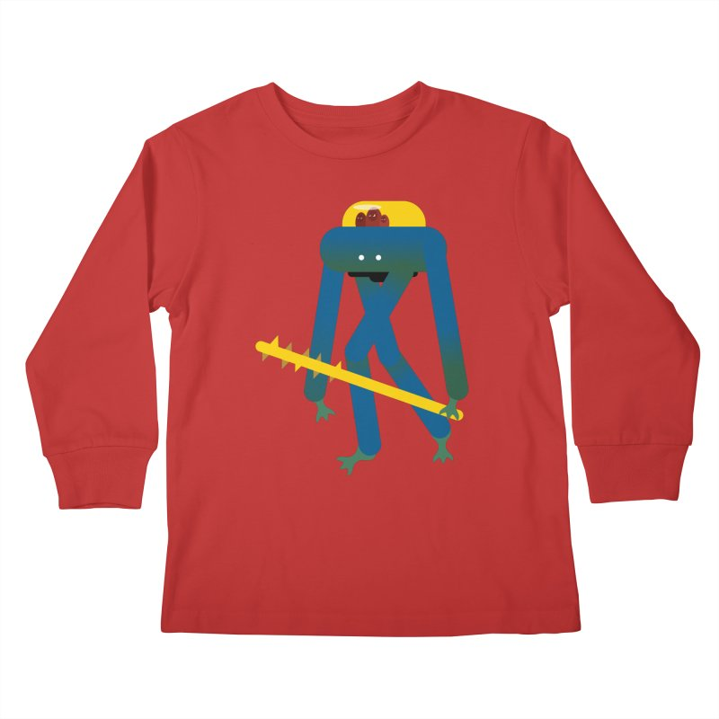 The Red Ghost Brothers Kids Longsleeve T-Shirt by Rick Hill Studio's Artist Shop