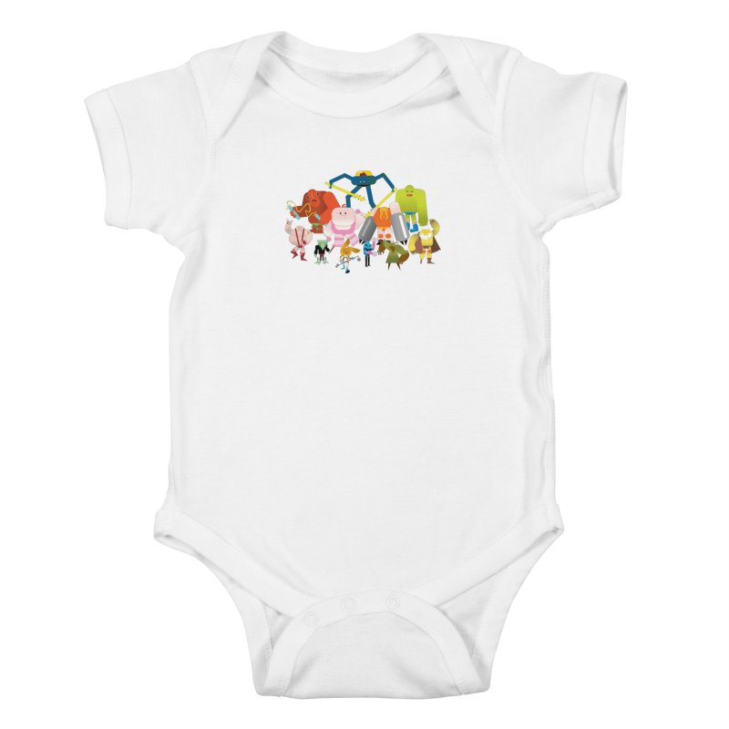The League Kids Baby Bodysuit by Rick Hill Studio's Artist Shop