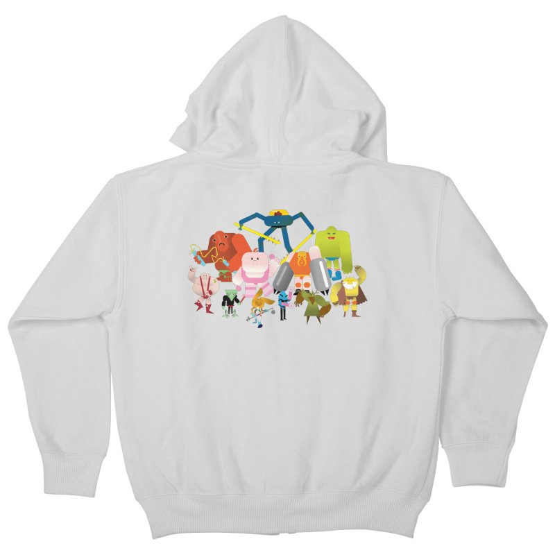 The League Kids Zip-Up Hoody by Rick Hill Studio's Artist Shop