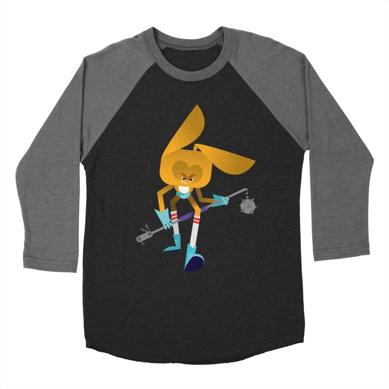 The Rabbit Men's Baseball Triblend T-Shirt by Rick Hill Studio's Artist Shop