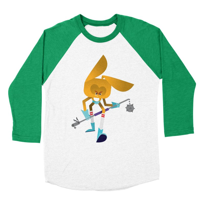 The Rabbit Men's Baseball Triblend Longsleeve T-Shirt by Rick Hill Studio's Artist Shop