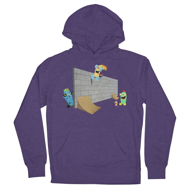 Ollie Rips Wall Ride Women's Pullover Hoody by Rick Hill Studio's Artist Shop