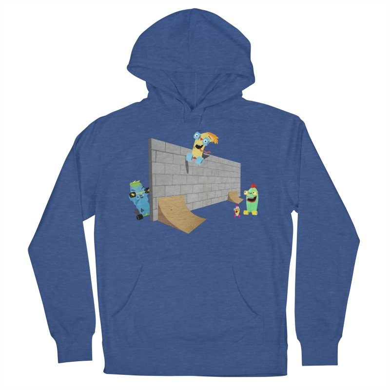 Ollie Rips Wall Ride Men's Pullover Hoody by Rick Hill Studio's Artist Shop