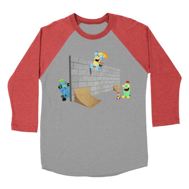Ollie Rips Wall Ride Men's Baseball Triblend T-Shirt by Rick Hill Studio's Artist Shop