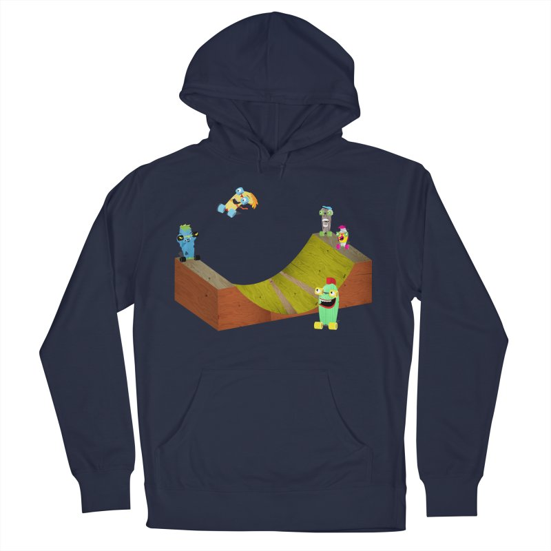 Ollie Rips Mini Ramp Men's Pullover Hoody by Rick Hill Studio's Artist Shop