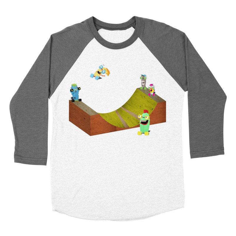 Ollie Rips Mini Ramp Men's Baseball Triblend T-Shirt by Rick Hill Studio's Artist Shop