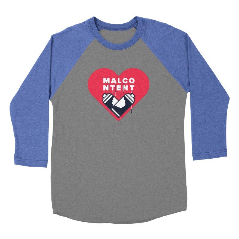 MALCONTENT Graffiti Men's Baseball Triblend Longsleeve T-Shirt by Rick Pinchera's Artist Shop