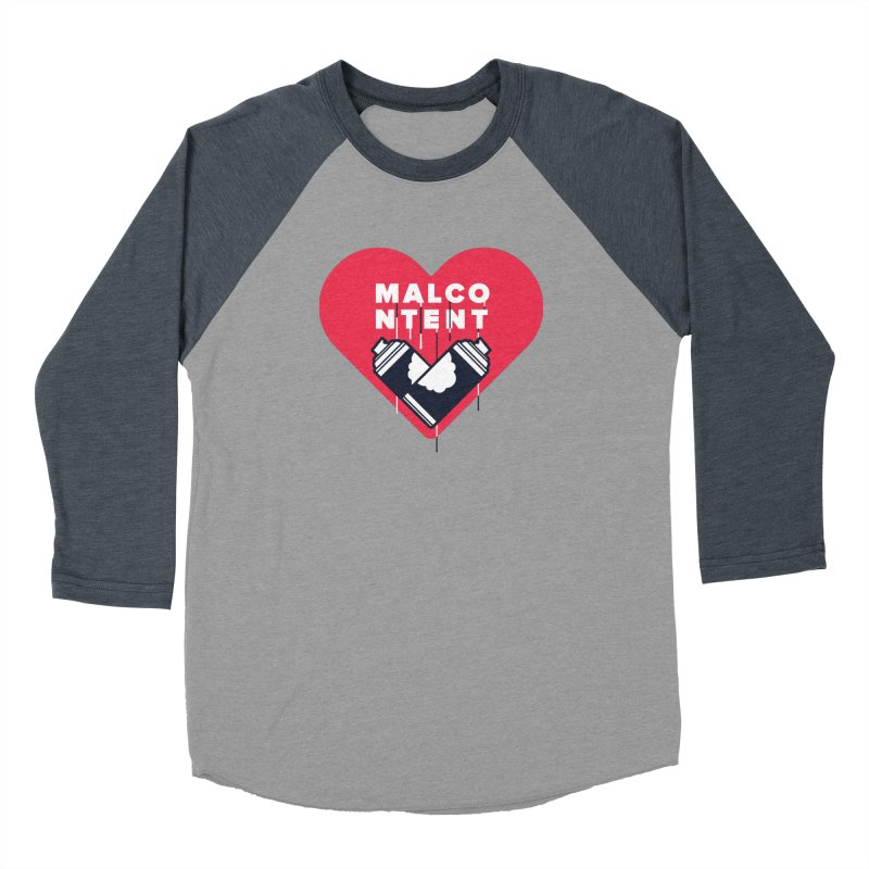 MALCONTENT Graffiti Men's Baseball Triblend Longsleeve T-Shirt by Rick Pinchera's Artist Shop