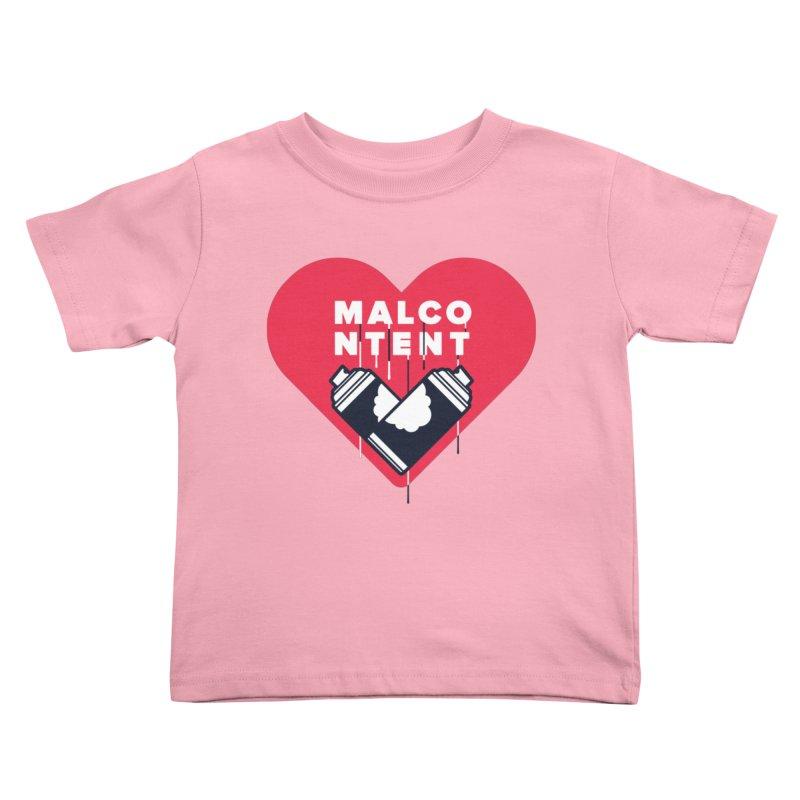 MALCONTENT Graffiti Kids Toddler T-Shirt by Rick Pinchera's Artist Shop