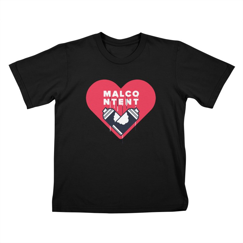MALCONTENT Graffiti Kids T-Shirt by Rick Pinchera's Artist Shop