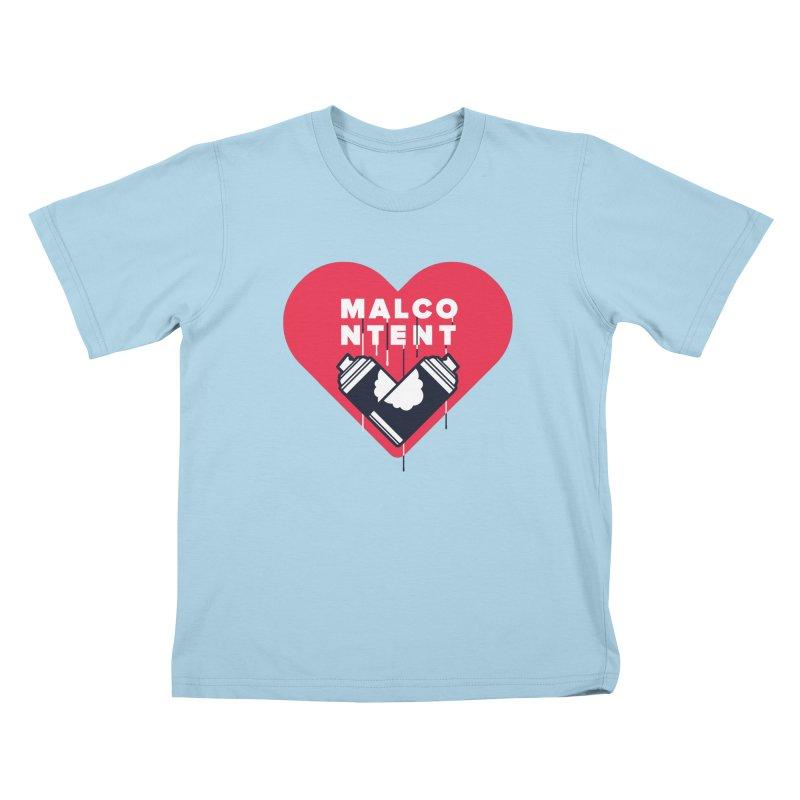 MALCONTENT Graffiti Kids T-Shirt by Rick Pinchera's Artist Shop