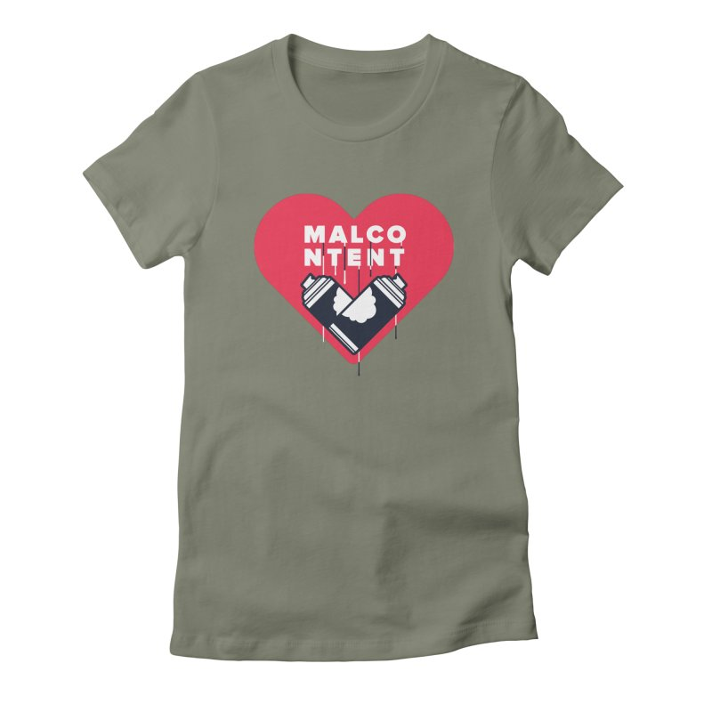 MALCONTENT Graffiti Women's T-Shirt by Rick Pinchera's Artist Shop