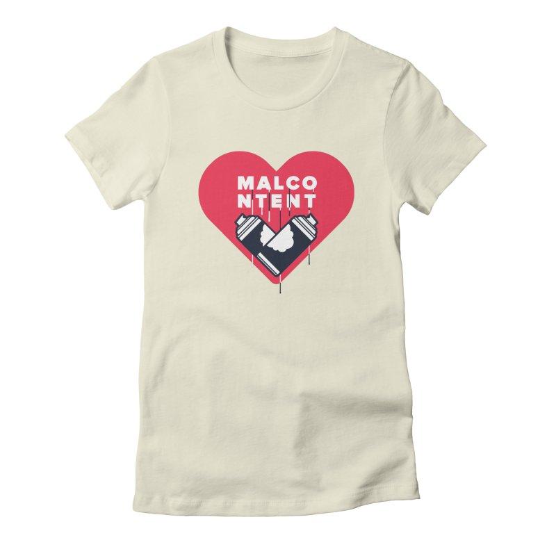 MALCONTENT Graffiti Women's Fitted T-Shirt by Rick Pinchera's Artist Shop