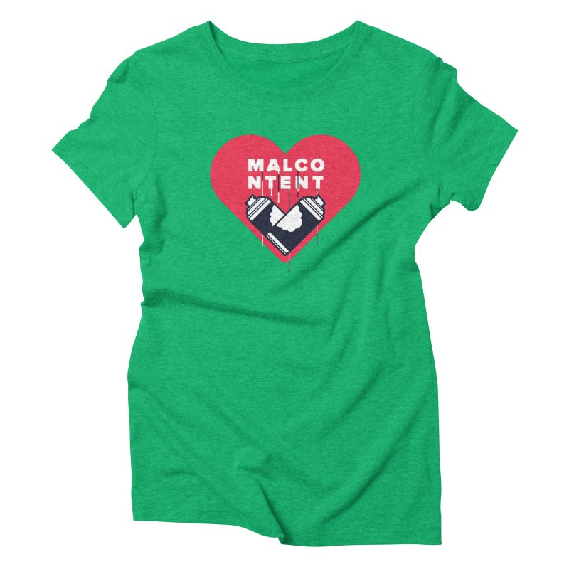 MALCONTENT Graffiti Women's Triblend T-Shirt by Rick Pinchera's Artist Shop