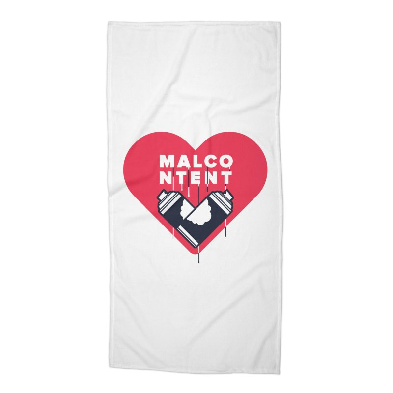 MALCONTENT Graffiti Accessories Beach Towel by Rick Pinchera's Artist Shop